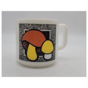Vintage 1970's Mushroom Milkglass Mug